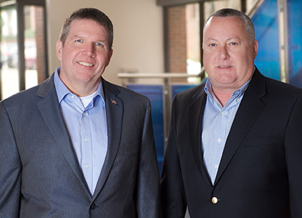 Texas Trust Credit Union CEO Jim Minge & Qualtrust Credit Union CEO John DiChiaro