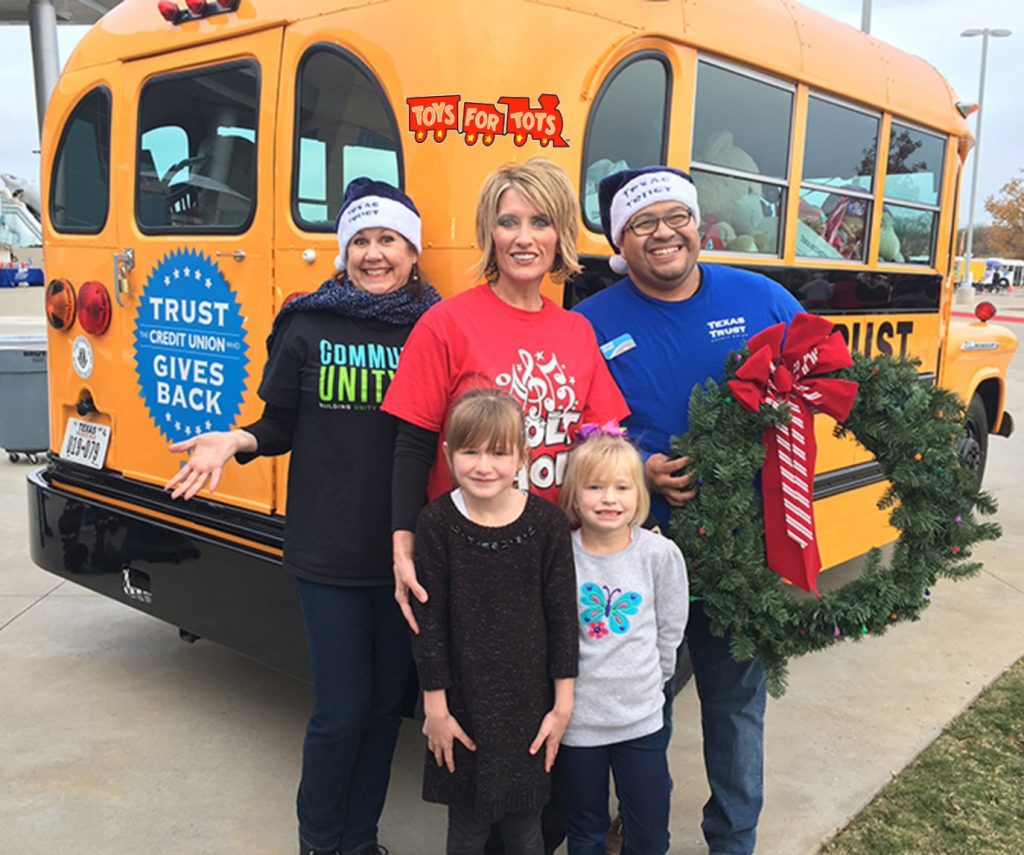Texas Trust Credit Union Toys for Tots Mansfield, TX