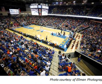 Texas Trust Credit Union sponsors UTA student fan section at College Park Center CPC
