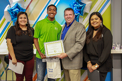 Texas Trust Credit Union End of Year Intern Celebration 2019 Dejardin Moffett