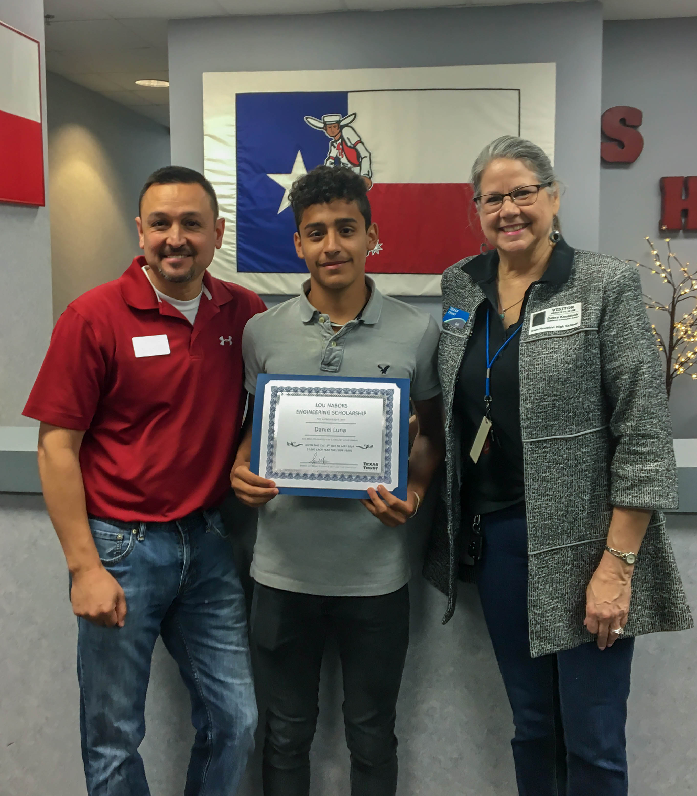 Daniel Luna Principal Benavides and Texas Trust Credit Union's AVP of Business & Community Engagement Debi Knoblock