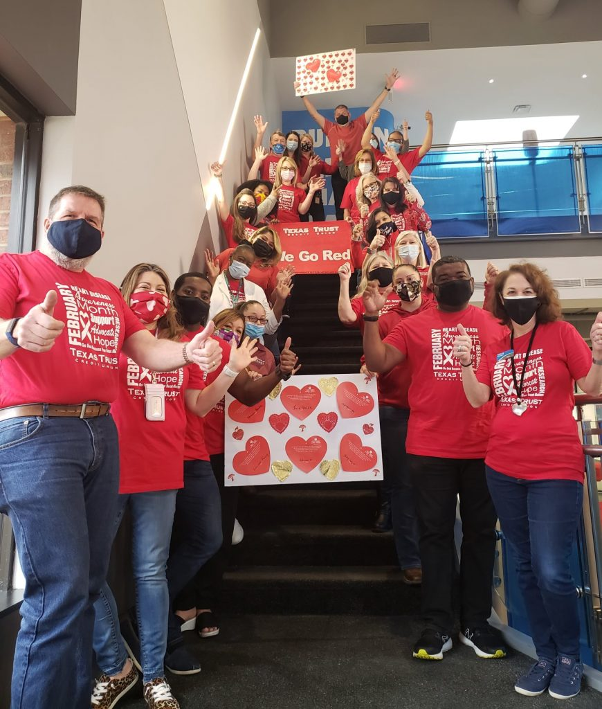 Texas Trust Credit Union Supports Go Red American Heart Association campaign