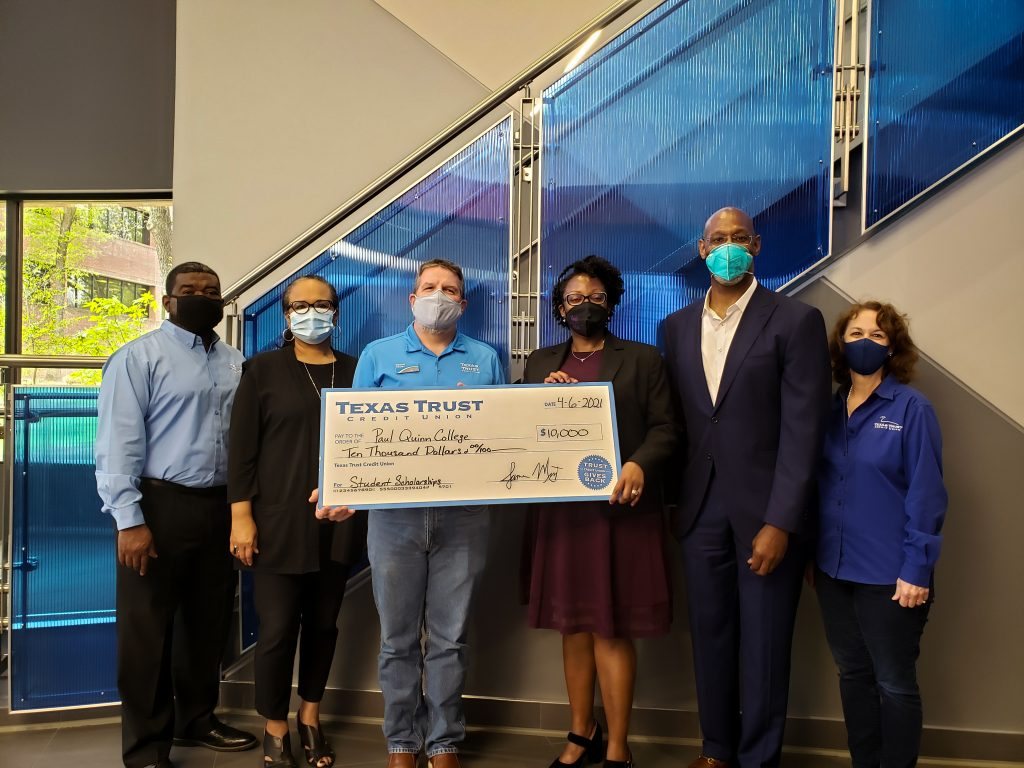 Texas Trust Credit Union Awards $10,000 to Paul Quinn College